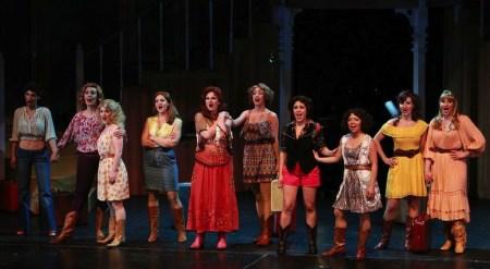 """The women's chorus in """"Best Little Whorehouse."""" Photo: Craig Mitchelldyer"""