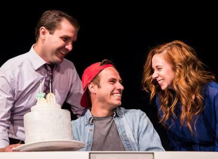 James Sharinghousen, Drew Harper, Danielle Purdy. Photo: Joshua Dommermuth