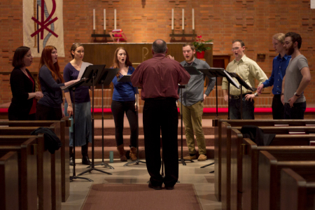 Eric Mentzel conducts Vox Resonat in Corvallis and Eugene.