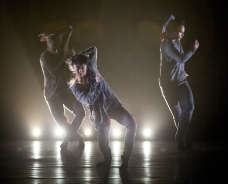 "From left: Franco Nieto, Ching Ching Wong and Viktor Usov in the world premiere of Yin Yue's ""Between Rise and Fall."" Photo: Blaine Truitt Covert"