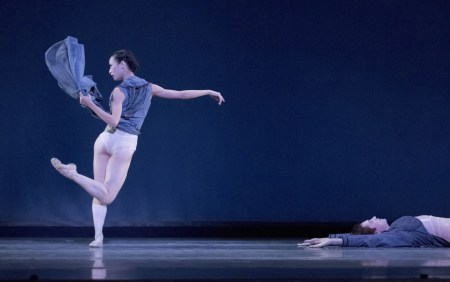 "Xuan Cheng and Michael Linsmeier in Trey McIntyre's ""Robust American Love."" Photo: Blain Truitt Covert"
