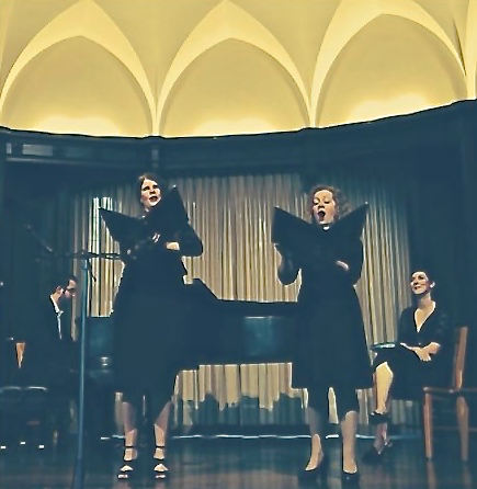 Mel Downie Robinson and Catherine van der Salm sang French music with The Ensemble.