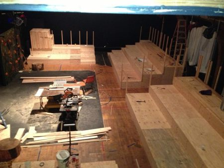 Lickety split: just a week ago, Post5's new theater looked like this. Photo: Post5 Facebook page.