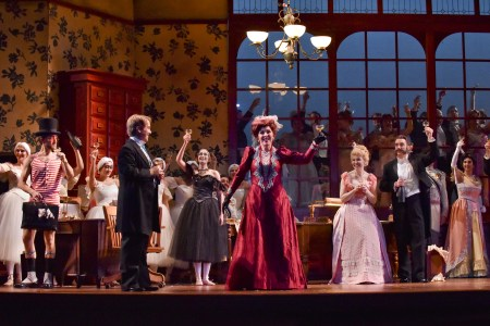 Party time! Portland Opera's Die Fledermaus opens Friday. Photo: Karen Almond courtesy of Portland Opera.