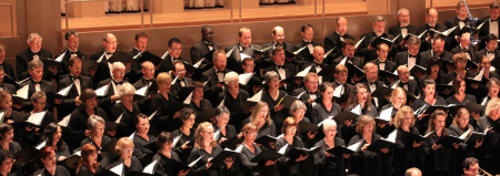 Portland Symphonic Choir sang at Portland's St. Mary's Cathedral.