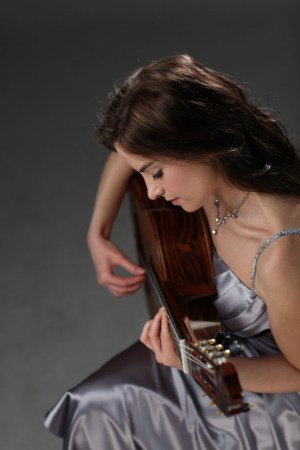 Ana Vidovic performs at Marylhurst College.