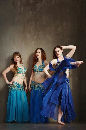 Fanina Padykula, Heather Henna Louise and Emilie Lauren, Portland Bellydance Guild.