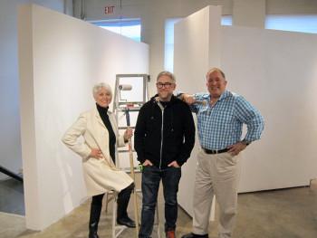 Marilyn Murdoch (Murdoch Collections), Peter Murdoch (Katayama Framing) and Jeffrey Thomas (Jeffrey Thomas Fine Art)