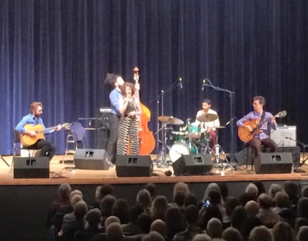 Cyrille Aimee performed with her band at Lewis & Clark College in the 2015 Portland Jazz Festival.