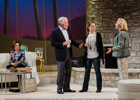 """Family that negotiates together: Silda, Lyman, Brooke and Polly in """"Other Desert Cities.""""/Patrick Weishampel/blankeye.tv"""
