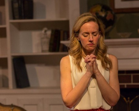 "Laura Faye Smith: prayer and politics in ""The God Game."" Photo: Gary Norman"
