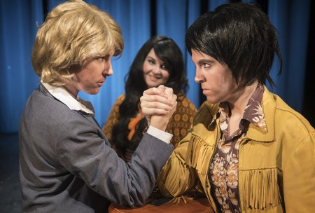 """Cassie Greer and Clara-Liis Hillier star in """"The Six Gentlepersons of Verona."""" running through March 22. Photo: Casey Campbell Photography."""
