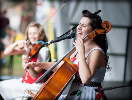 Ashia sings and plays cello with Salem Chamber Orchestra and her band, the Bison Rouge.