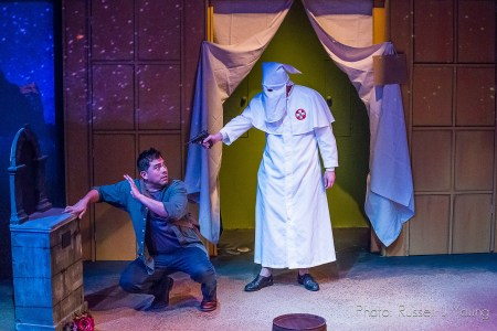 Gonzalez with Garland Lyons as a surprising Klansman. Photo: Russell J Young