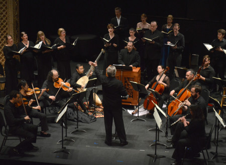 Keith Clark led the Astoria Music Festival's performance of Bach's St. John Passion. Photo: Dwight Caswell.
