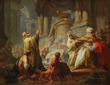 Jean-Honoré Fragonard, Jeroboam Sacrificing to the Idols, 1752, Oil on canvas, 43 7/8 x 56 1/2 in., École des Beaux- Arts, Paris (PRP 7), Courtesy American Federation of Arts