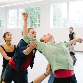Northwest Dance Project in rehearsal./
