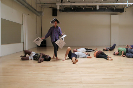 PICA's TBA 2014 workshop by Meryem Jazouli (Casablanca, Morocco) in Zoomtopia's Studio 2. Photo: Chelsea Petrakis
