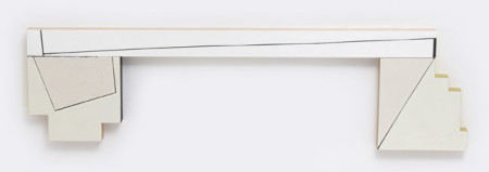 "Judy Cook, Ledge, 2014, oil, acrylic and wax on wood, 18"" x 65"" x 2""/Elizabeth Leach Gallery"