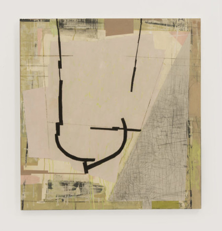 "Judy Cooke, Nostalgia, 2014 (oil, pencil and wax on wood, 36"" x 34"" x 2"")/Elizabeth Leach Gallery"