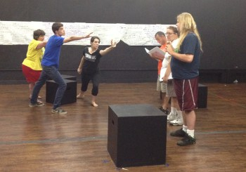 "Members of PHAME Academy rehearse for ""Up the Fall."""