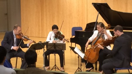 The Jasper String Quartet performs Chris Rogerson's String Quartet No. 1 at Chamber Music Northwest.
