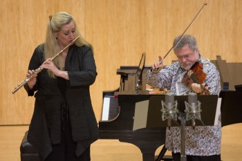 Tara Helen O'Connor and Daniel Phillips performed at Chamber Music Northwest. Photo: Tom Emerson.