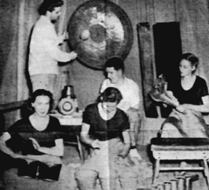 Lou Harrison (l) and John Cage composed for and directed a pioneering percussion ensemble.