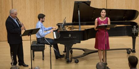 David Shifrin, Yevgeny Yontov and Evanna Chiew performed in CMNW's New@Noon series.