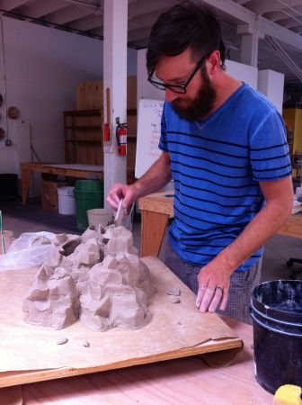 Dylan Beck, department head of ceramics at Oregon College of Art and Craft, was one of the Summer Session artists. Photo by Grace Kook-Anderson