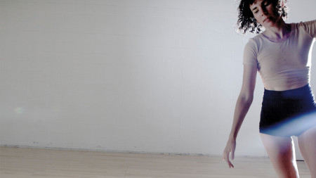 Suniti Dernovsek performing in Leading Light as part of the New Expressive Works residency at Studio 2 @ Zoomtopia.