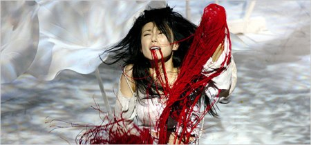 "Hitomi Manaka as Lavinia in Yukio Ninagawa's 2006 Titus Andronicus (Taitasu Andoronikasu) at the Royal Shakespeare Theatre/""Lavinia - Ninagawa production"" by Source (WP:NFCC#4). Licensed under Fair use via Wikipedia - https://en.wikipedia.org/wiki/File:Lavinia_-_Ninagawa_production.jpg#/media/File:Lavinia_-_Ninagawa_production.jpg"