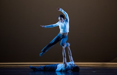 ... to 2015 Princess Grace Award winner Wong, in rehearsal with Usev. Photo: Blaine Truitt Covert