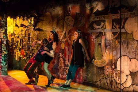 Drunk in the city: one flask over the line. Photo: Theatre Vertigo