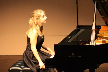 Lise de la Salle performed at Portland Piano International. Photo: Rich Brase.