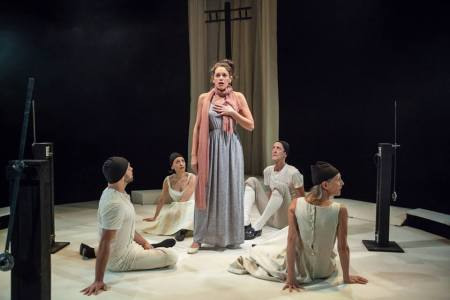 "Profile's ""Orlando,"" from left: Ben Newman, Crystal Muñoz, Beth Thompson, Ted Rooney, Elizabeth Rotham. Photo: David Kinder"