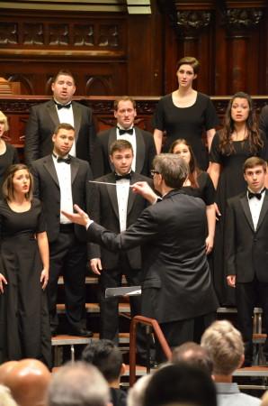 Temple University singers.
