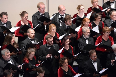 Oregon Repertory Singers perform at Portland's First United Methodist Church.