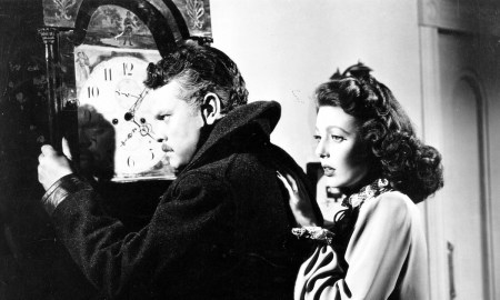 "Orson Welles and Loretta Young in ""The Stranger"". Courtesy of the Northwest Film Center"