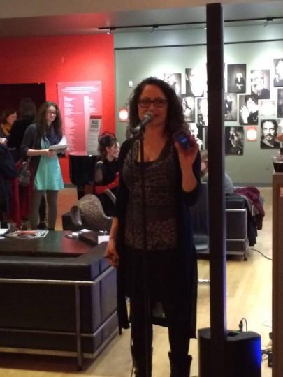 Festival director Nicole Lane, calling the speed-dating shots. Photo: Christine Toohey