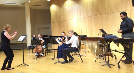 Lisa Marsh conducted her music at Cascadia Composers' fall concert.