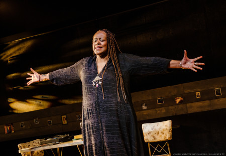 Orlandersmith, encompassing. Photo: Patrick Weishampel/blankeye.tv