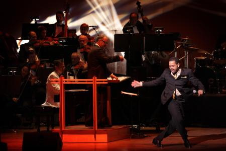 Ted Levy tap dances with the Oregon Symphony this weekend.