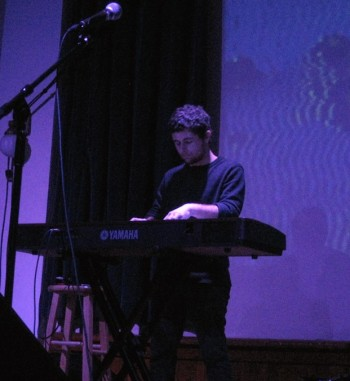 Mitchell Falconer performs with ARCO-PDX at Eugene's WOW Hall. Photo: Gary Ferrington.