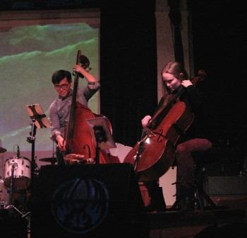Lee and Hillebrand at ARCO's Feb. 13 performance at Eugene's WOW Hall. Photo: Gary Ferrington.
