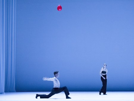 "Julia Radick and Kody Jauron in the premiere of Ihsan Rustum's ""Le Fil Rouge."" Photo: Blaine Truitt Covert"