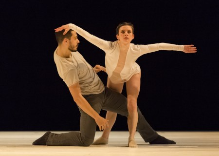 "Elijah Labay and Andrea Parson in Alex Soares's ""Trace in Loss."" Photo: Blaine Truitt Covert"