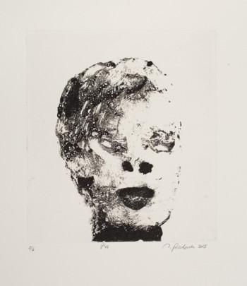 "Tom Prochaska, Her Web, 2016, liftground etching, edition of 5, 9"" x 8"" image, 16"" x 14.5"" paper/Photo credit: Dan Kvitka"