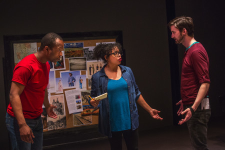 "Vin Shambry, Chantal DeGroat and Joshua Weinstein in ""We Are Proud to Present""/Photo by Owen Carey"