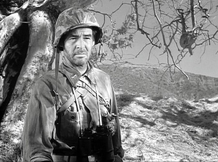 "Robert Ryan in Anthony Mann's 1957 film ""Men in War."""